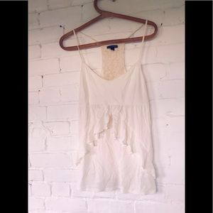 American Eagle Fluttery white tank top